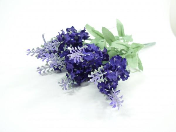 2 x Lavendelzweige Kunstpflanze Lavendel Pflanze Dekoblume