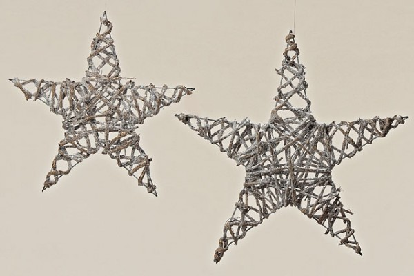 Hänger Stern Nara Weide silber L 50 cm