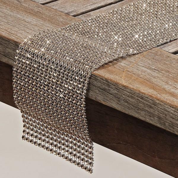 2 x Tischband SUNA Farbe champagner Tischläufer