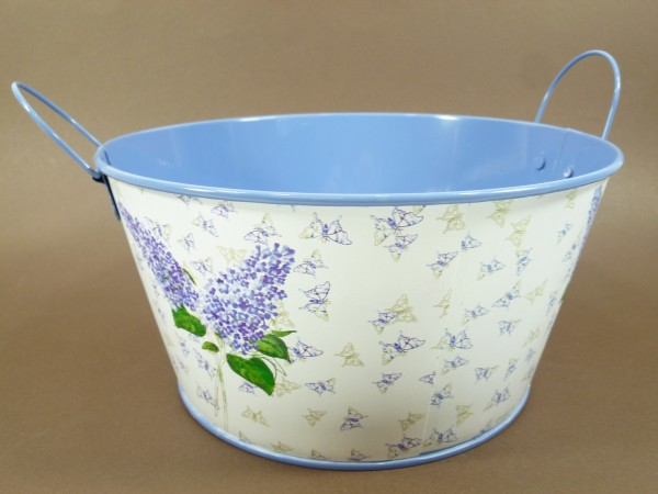 Pflanzentopf im 3er Set Blumentopf mit Henkel Zinktopfset