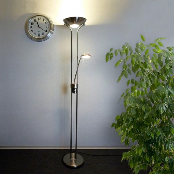 LED Deckenfluter Okko R7s-118mm-8,5W Leseleuchte G9-2,5W nickel