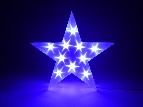 LED Stern 35 lila 10LED lila, 2 x AABatterie