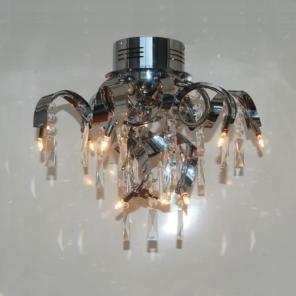 Deckenleuchte MAXIME moderne Lampe Kristall / Chrom Deckenlampe