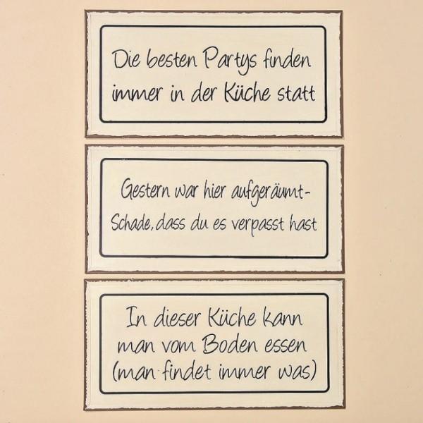 Schild Trudi 3s Metall weiß 40x 20cm