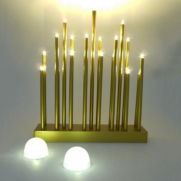 LED Stimmungsleuchte 19 flammig batteriebetrieben Dekoleuchte Fensterbeleuchtung