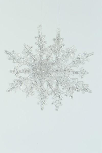 2 x Hänger Schneeflocke Winterliche Fensterdekoration