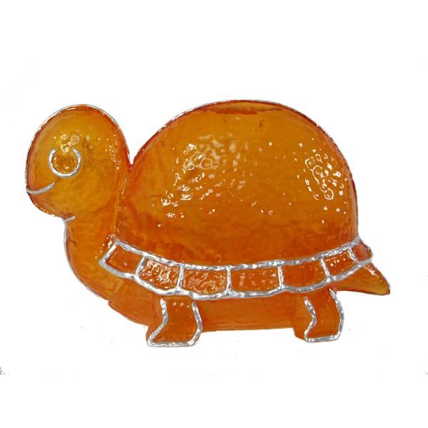 Dekorations-Leuchte Schildkröte TURTLE orange Fiberglas-Tisch-Fenster-Lampe