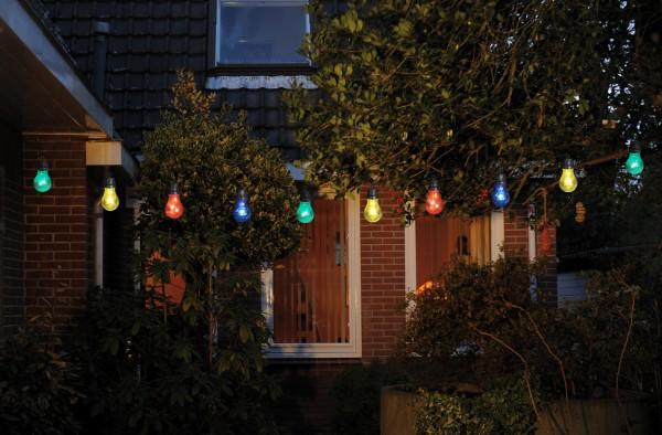 LED-Lichterkette-Dekorationsleuchte 10 flammig für Garten Terrasse Balkon