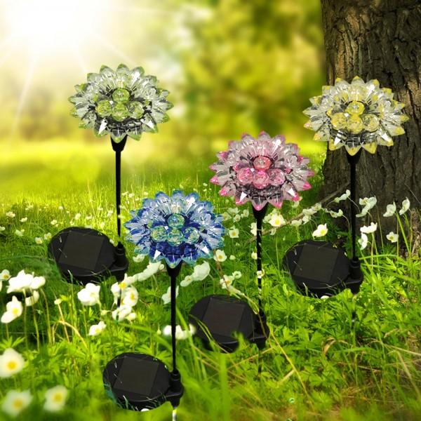 Solarspieß Blume 4er Set