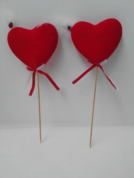 2 x trendige Herzstecker im Set Deko-Stecker Herz
