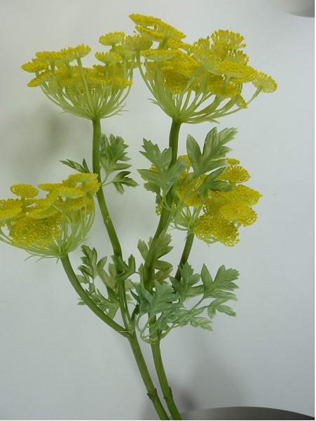 2er Set Fenchel Blume gelb gelb-grün, 57 cm