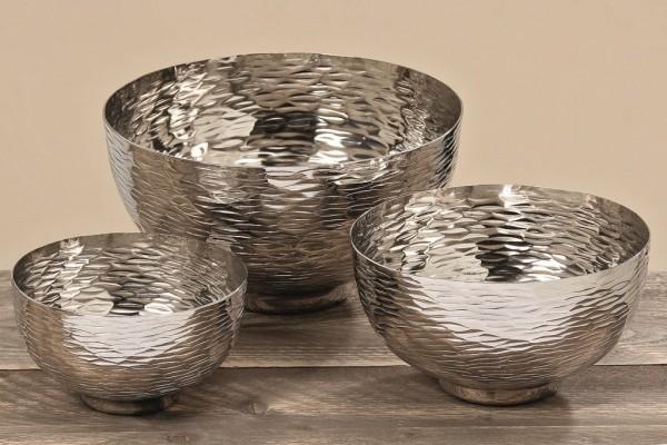 3x Edle Deko Schalen TIES im Set aus Aluminium
