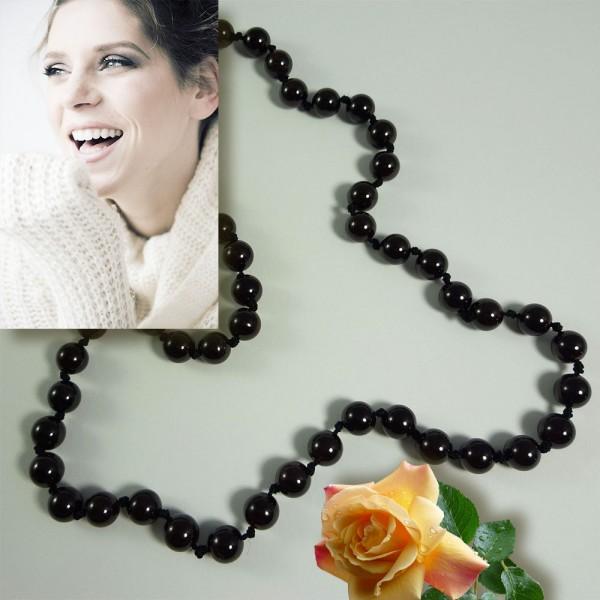 Edelstein Halskette aus Granatsteinen Kugelkette