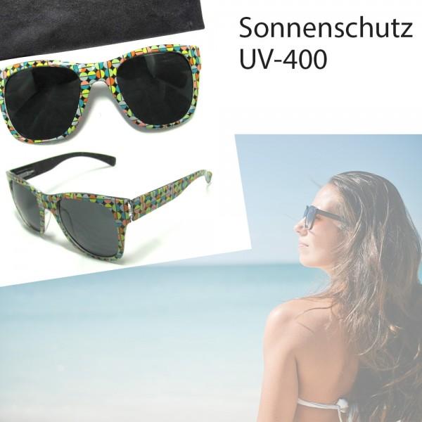 Dapo Damen-Sonnenbrille, Sonnen-Schutz mit UV-400-Schutz, mit Etui Strand-Brille