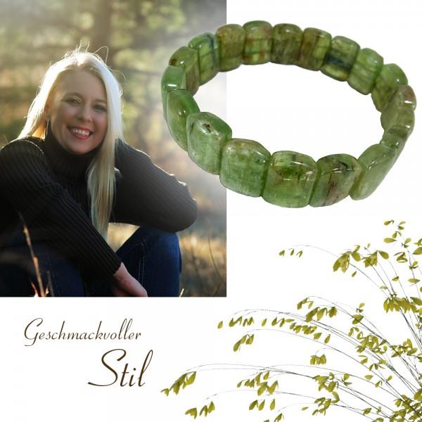 Wunderschönes Edelstein Armband aus grünem Quarz