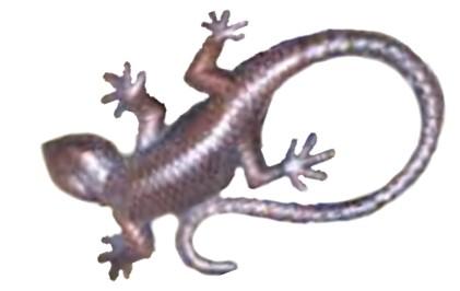 Dekorative Gartenfigur Salamander Gekko Echse Gartendekoration