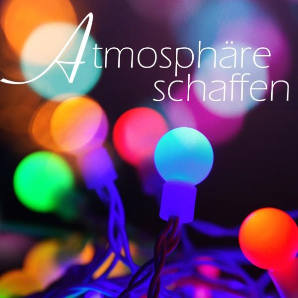 LED Kugellichterkette BALL 50 flammig mit Farbwechsler Dekoleuchte