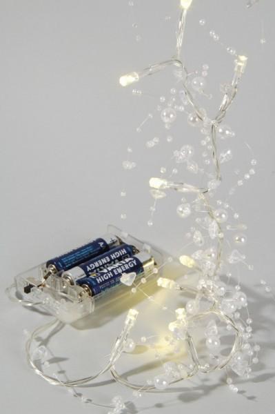 LED Lichterkette Perlengirlande 20 flammig batteriebetrieben Dekolicht