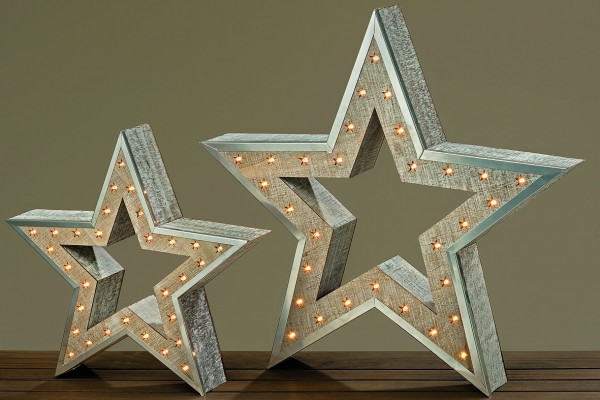 LED Objekt Stern H35cm batteriebetrieben LED Leucht-Weihnachtsstern