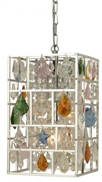 Echt-Kristall-Decken-Pendelleuchte SALIMA