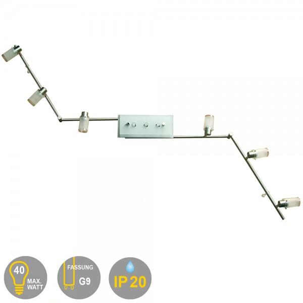 LED Gelenksystem Spotschiene KARL Spotlampe 9 flammig Deckenleuchte