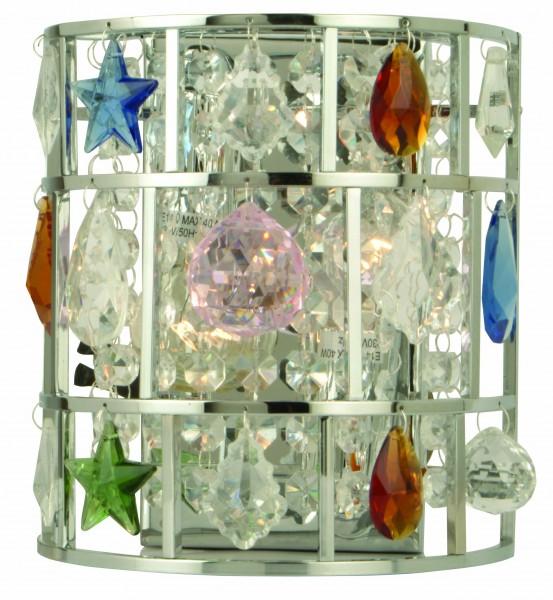 Echt-Kristall-Wandleuchte SALIMA Wandlampe