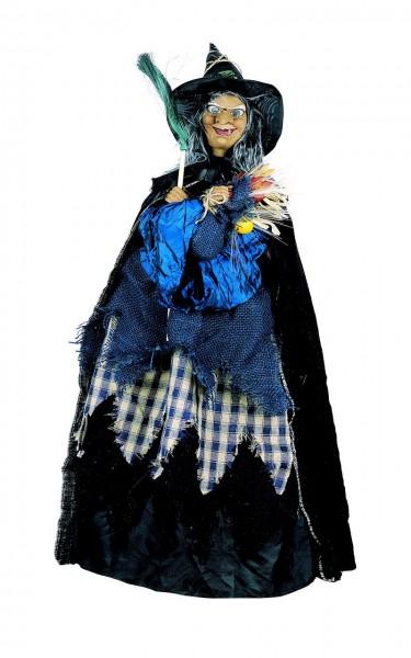 Fiberglas beleuchtete und bewegliche Hexe BLAULINE Halloween Deko-Figur