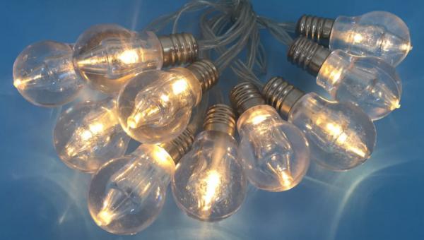 LED-Lichterkette GLÜHLAMPE LED-Dekoleuchte batteriebetrieben Fenster-Tisch-Dekoration