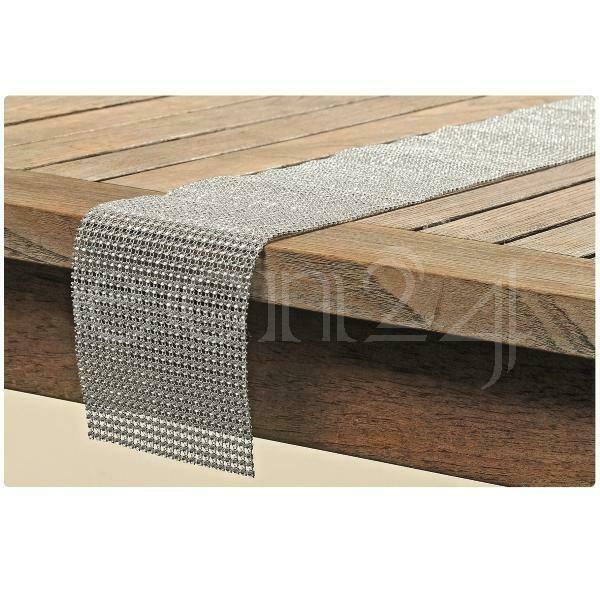 Tischband GLAMOUR Farbe silber Tischläufer