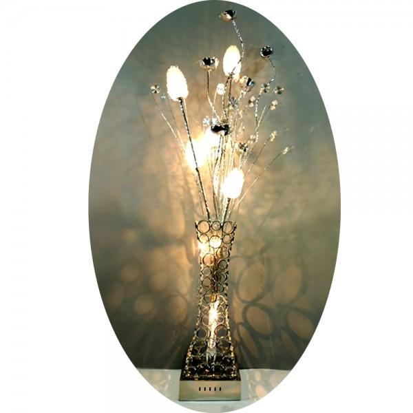 Stehleuchte CLEOPATRA 7-flammig aus Alu-Drahtgeflecht Bodenleuchte Blumenleuchte