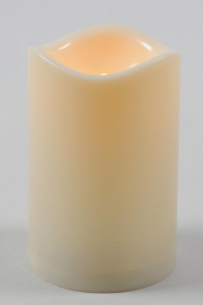 Flammenlose LED Kerze 15 cm elfenbeinweiß batteriebetrieben