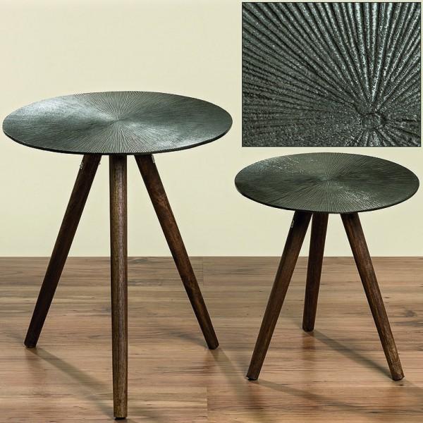 Tischset PADOR Aluminium Beistell-Deko-Blumen-Tische