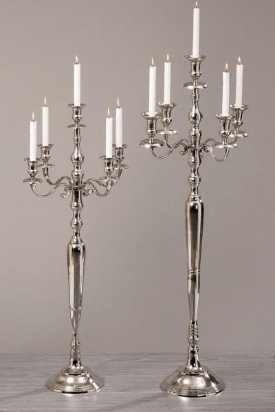 Kerzenleuchter Victoria H105cm für Stabkerzen, Alu vernickelt