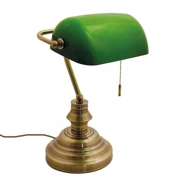Schreibtischleuchte Bankerlampe mit Zugschalter Büro-Tisch-Lampe