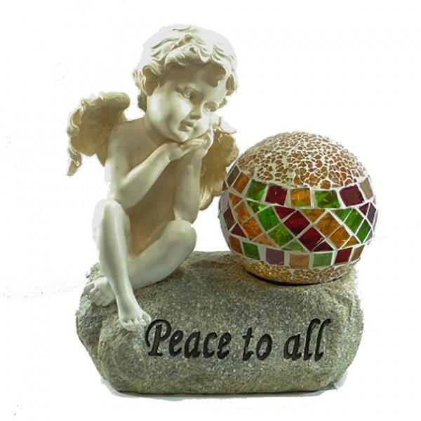 Engel mit Solar Mosaikkugel