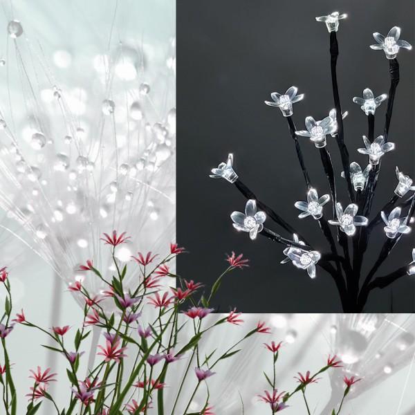 LED Solar Stick Flower 20 flg. klar H 60cm