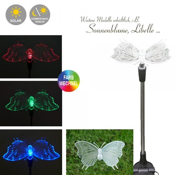 LED Solarspieß Schmetterling