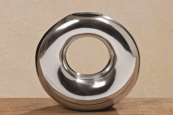 Vase Ring Alu 27 cm silber