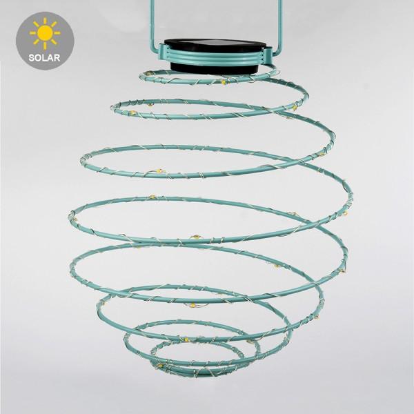 Solar-Leuchte Spirale Gelb-Gold-Türkis