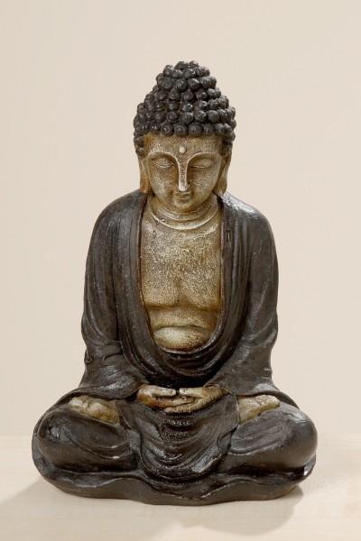 Fernöstliche Buddha-Skulptur Garten-Dekofigur