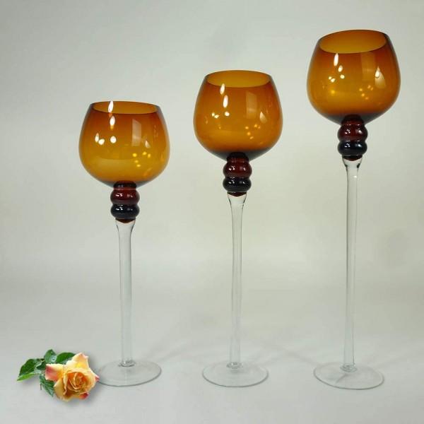 Windlicht Manou Glas amber